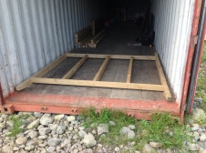 This is the basic frame of the ark laid out on the floor of the container (the only flat surface on the farm). The whole Ark is on skids so I can tow it behind the Landy.