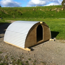 The completed arkticle. Finally the corrugated steel fitted and its beauty is revealed.