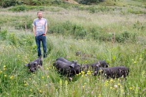 Me inspecting the herd on day one.