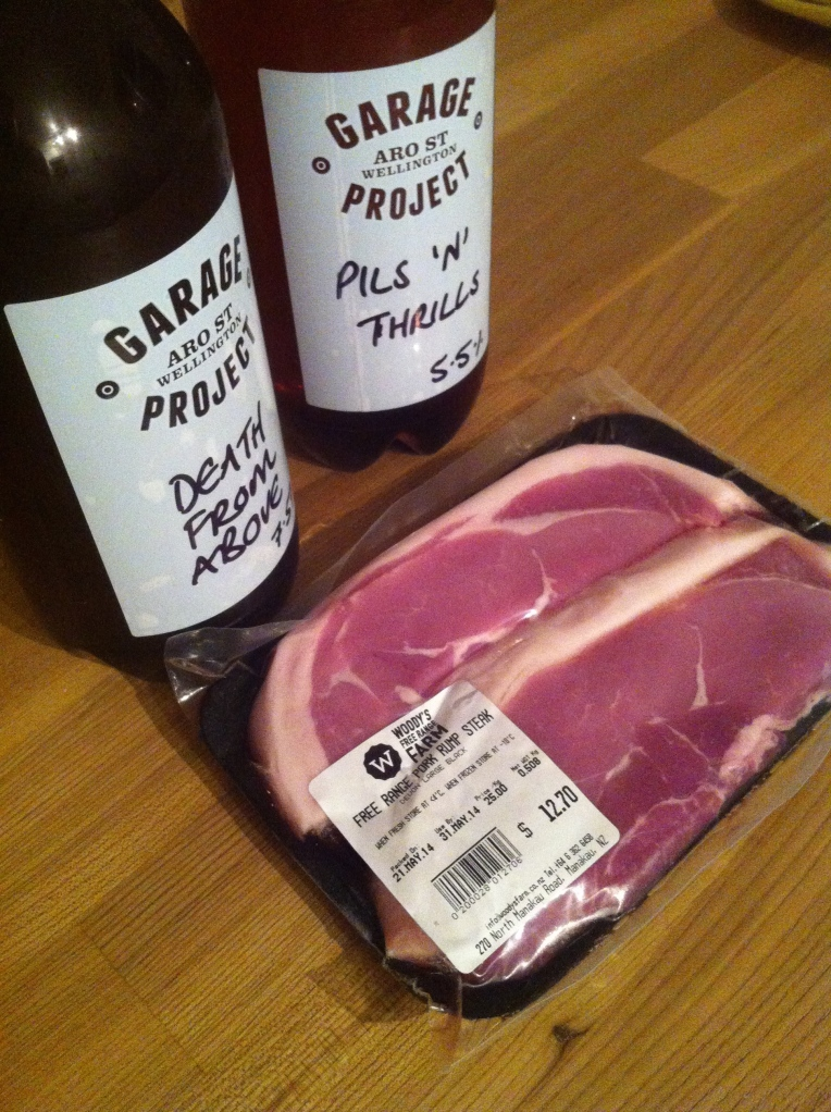 Pork and beer as perfect together as a brewery and a pig farm